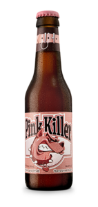 Pink killer grapefruit beer, fruit beer, rose, hoegaarden