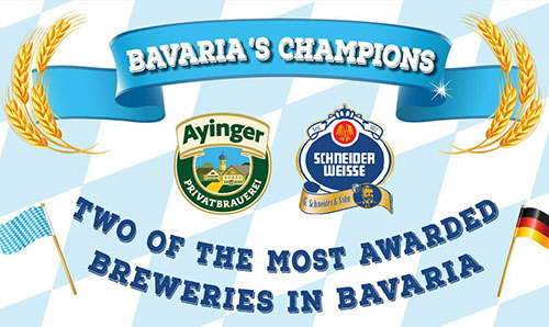 best bavarian beer Schneider Weisse and Ayinger