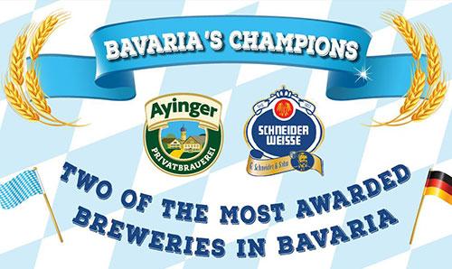 best bavarian beer Schneider Weisse and Ayinger